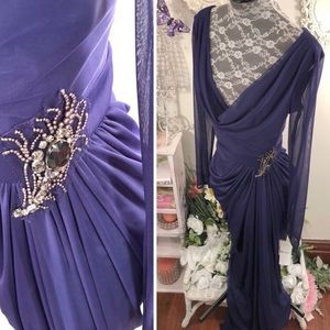 Purple gown